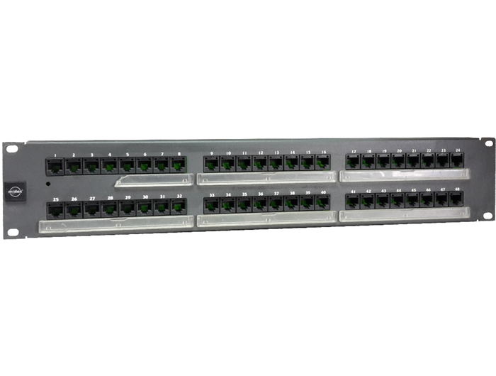 PATCH PANEL MOLEX 48P 2U CAT5 BLACK