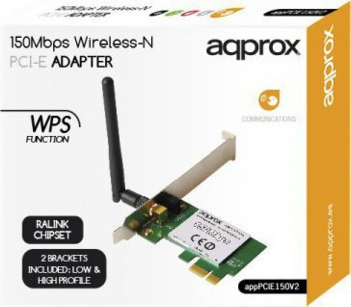 WIRELESS APPROX 150Mbps NETWORK ADAPTER PCI-E NEW