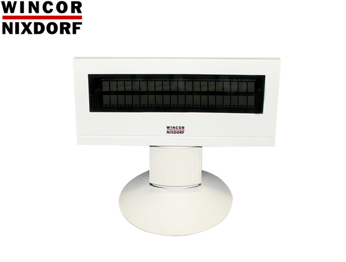 POS CUSTOMER DISPLAY WINCOR NIXDORF BA63 RS232 12V WHITE