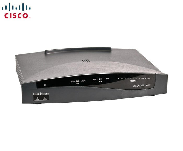 ROUTER CISCO 836 ADSL over ISDN Router NPS (NO POWER SUPPLY)