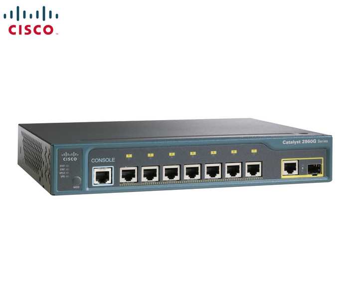 SWITCH 8P CISCO 2960 8 x 10/100 & 1x GBIT SFP & 1x GBIT ETH