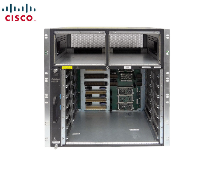 CISCO 4500 SERIES 7-SLOT CHASSIS WITH FAN MODULE & 2 PSU DC