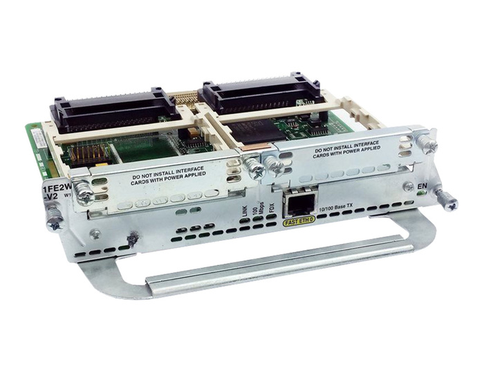 CISCO MODULE NM-1FE2W 1x10/100 ETHERNET 2xWAN CARD