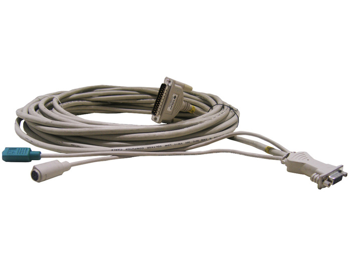 CABLE KVM BLACKBOX PS/2/VGA FEMALE TO SERIAL 25-PIN