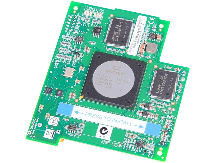 BLADE HBA FC 4GB IBM QLOGIC FIBER CHANNEL DUAL PORTS PCI-E