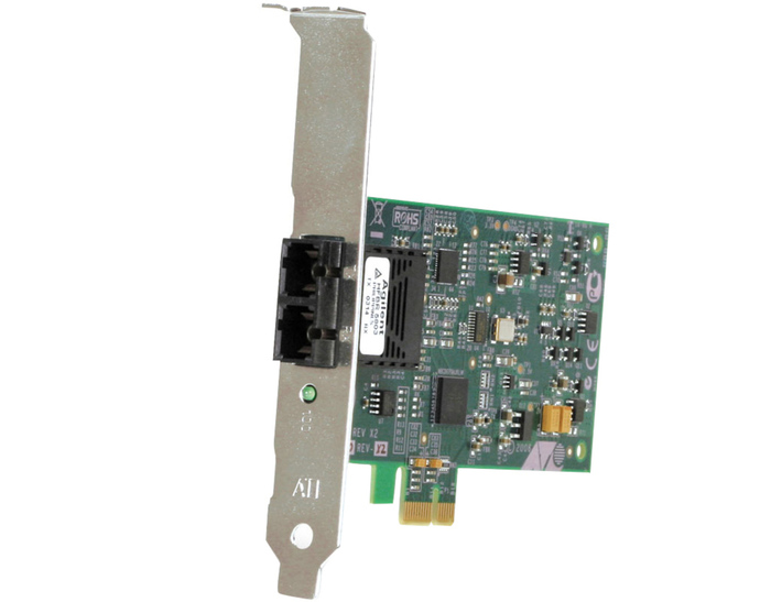 NIC 100MB ALLIED TELESIS OPTICAL SC DUAL PORT PCI-E