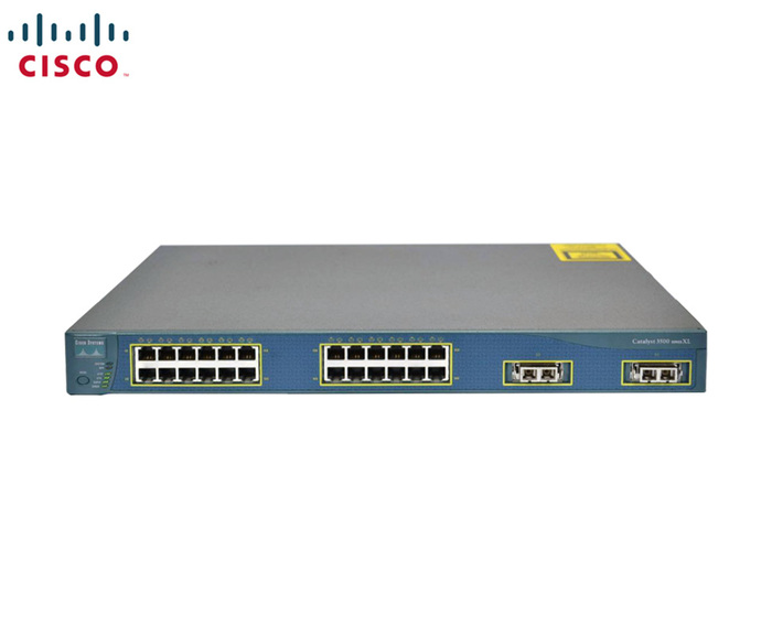 SWITCH ETH 24P 100MB & 1P 1GBE CISCO CAT C3524XL