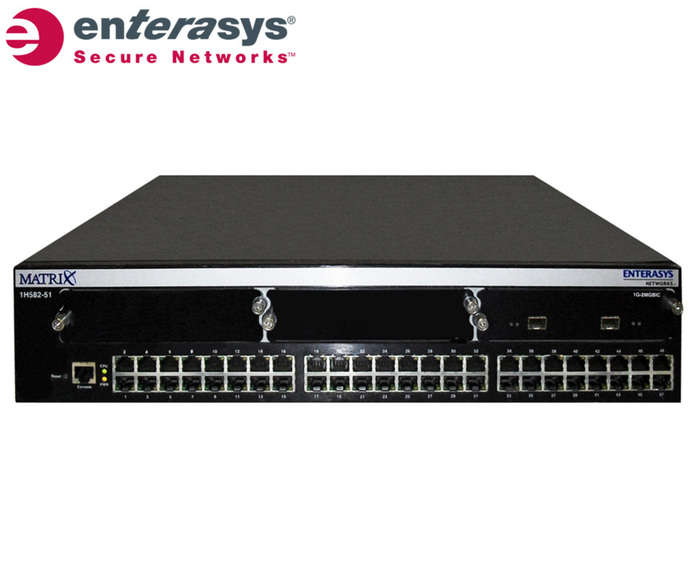 SWITCH ETH 48P 100MB RJ45 & 2xSFP ENTERASYS MATRIX E1 2xPSU