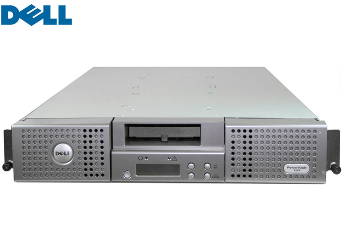 TAPE LIBRARY DELL POWERVAULT 124T 2U WITH 1xLTO3 DRIVE/1xMAG