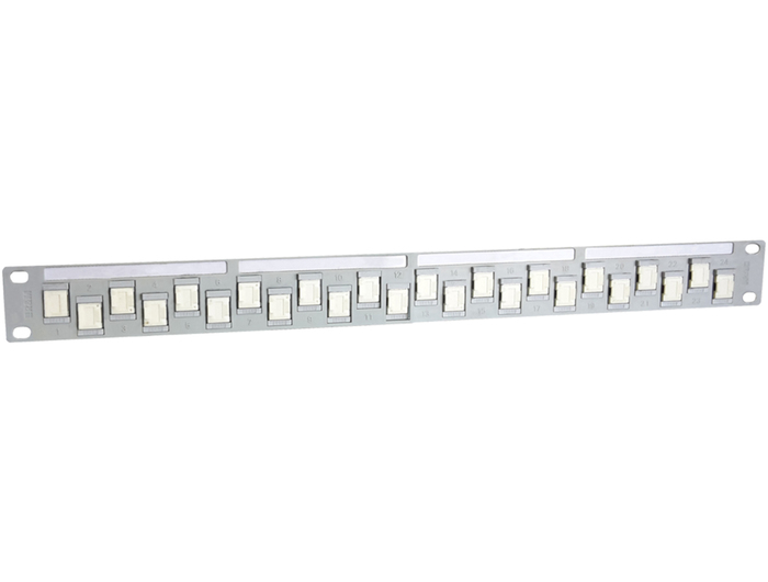 PATCH PANEL R&M 1U 24P CAT6 SHIELDED WHITE