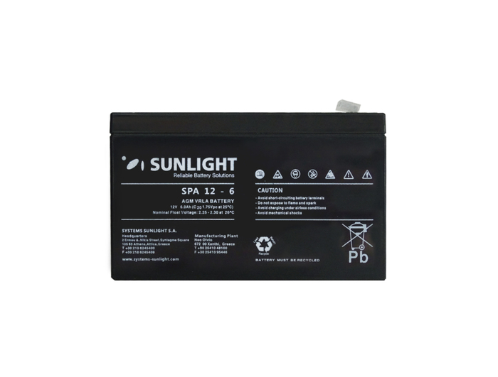 BATTERY PB SUNLIGHT POWER 12V-6AH