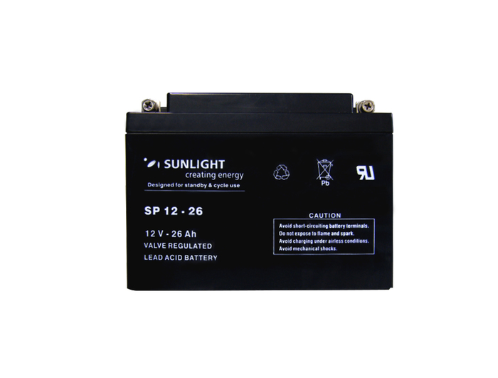 BATTERY PB SUNLIGHT POWER 12V-26AH