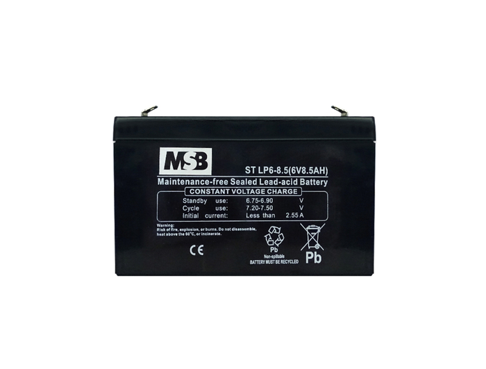 BATTERY VRLA RECHARGABLE  6V-8.5AH FOR UPS