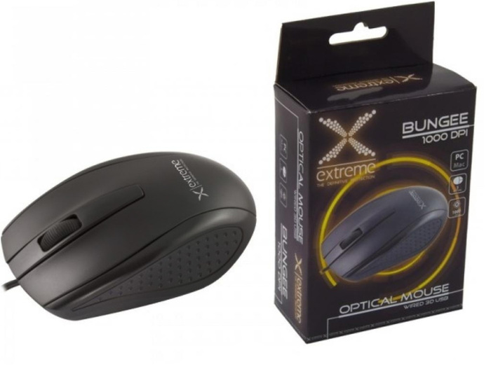 MOUSE EXTREME XM110K SCROLL/OPTICAL/USB NEW