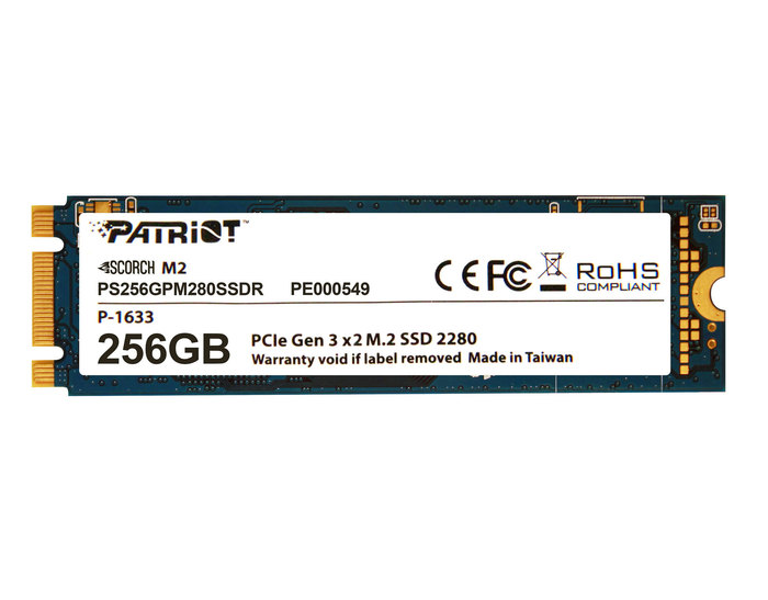 "SSD 256GB 2.5"" PATRIOT SCORCH M.2 NEW"
