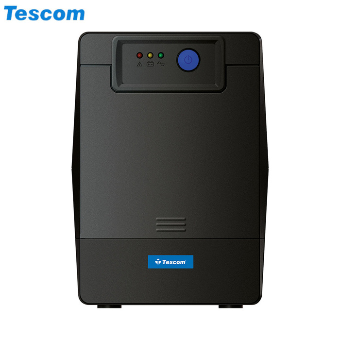 UPS 1500VA TESCOM LEO 1500A LED LiNE iNT TOWER BLACK NEW - Φωτογραφία
