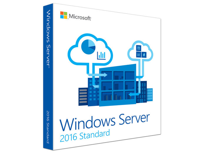 WINDOWS SERVER STANDARD 2016 64 BIT ENG 16C DSP OEI 1-2 CPU