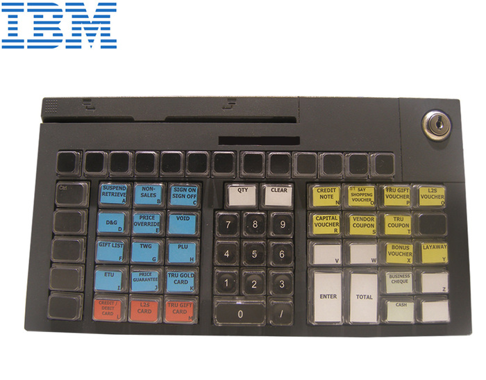 POS KEYBOARD IBM/TOSHIBA 67-KEY BL 12PIN WITH MSR (NO CAB)