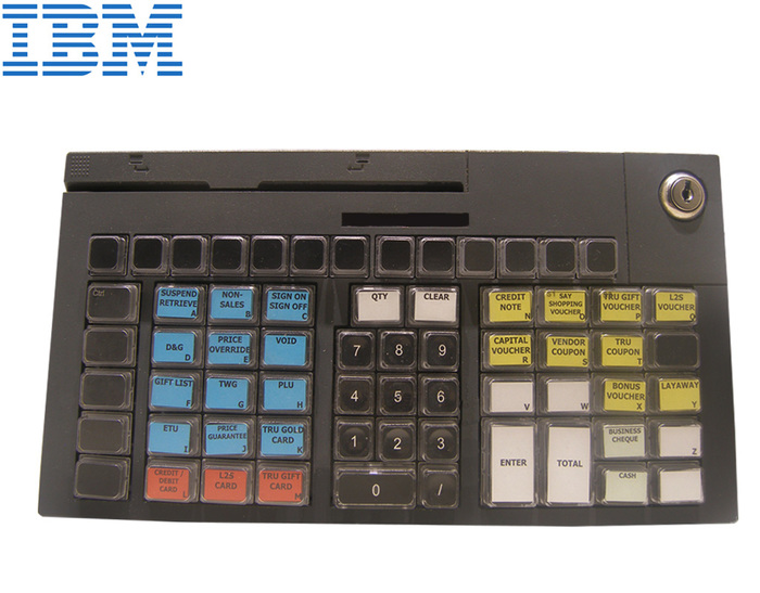 POS KEYBOARD IBM 67-KEY BLACK 12PIN WITH MSR & P.USB CABLE