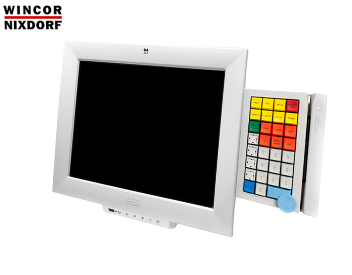 "POS MONITOR 15"" TFT Wincor Nixdorf BA83A White with KeyBoard"