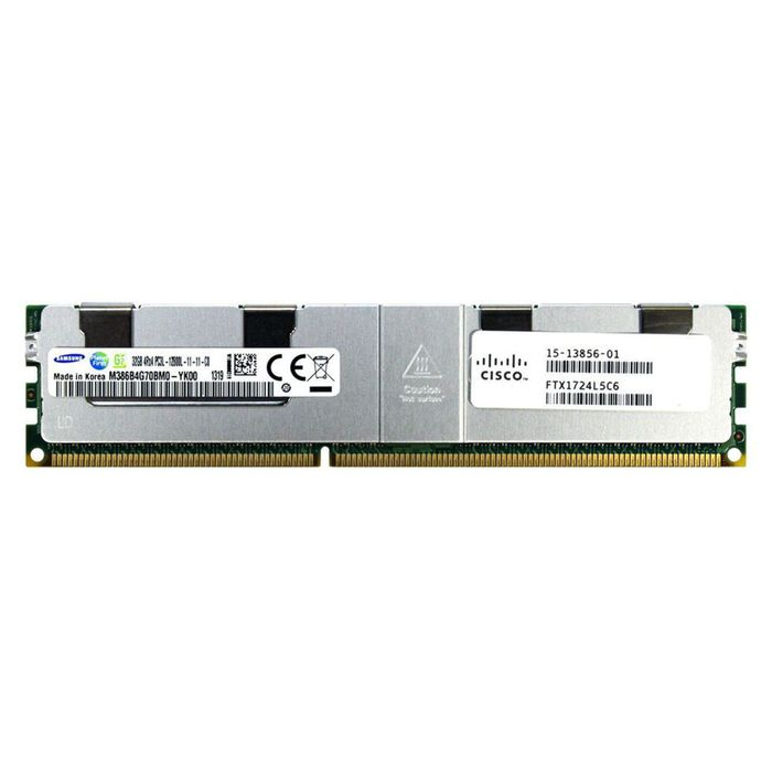 Cisco 32GB DDR3-1600-MHz LR DIMM/PC3-12800/quad 15-13856-02 - Φωτογραφία
