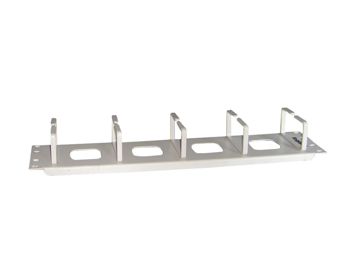 CABLE MANAGER LEGRAND 2U 5 HOOK WHITE METAL