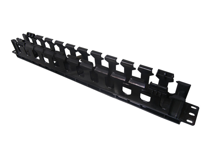 CABLE MANAGER PANDUIT 1U CABLE CROSS HOOK BLACK PLASTIC - Φωτογραφία